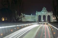 Parc du Cinquantenaire, sosta di Jubel, Bruxelles Immagine Stock