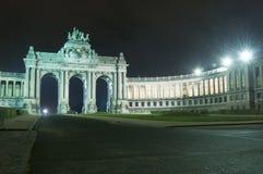 Parc du Cinquantenaire, stationnement de Jubel, Bruxelles photos libres de droits
