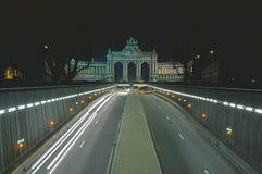 Parc du Cinquantenaire, stationnement de Jubel, Bruxelles photo libre de droits