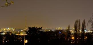 Parc em Bruxelas na noite, altura 100 Imagem de Stock