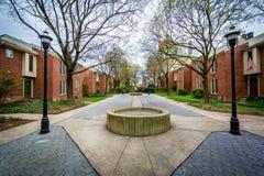 Parc en colline de Bolton, Baltimore, le Maryland Photos stock