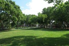 Parc en dehors de palais de Topkapi à Istanbul, Turquie Photos stock