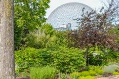 Parc en métal de Biosphre en Parc Jean Drapeau Images libres de droits