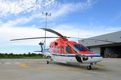 Parc en mer d'hélicoptère au tablier Photos libres de droits