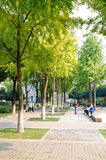 Parc en pierre de ville Image libre de droits