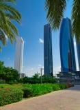 Parc en ville d'Abu Dhabi image stock