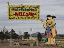 Parc et logement du Flintstone rv Photographie stock libre de droits