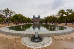 Parc et piscine de façade de Rijksmuseum Image stock
