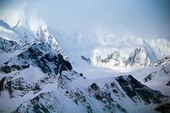 Parc et réservation nationale de Kluane, montagnes et glaciers Photos libres de droits