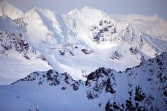 Parc et réservation nationale de Kluane, montagnes et glaciers Images libres de droits