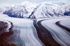 Parc et réservation nationale de Kluane, montagnes et glaciers Image libre de droits