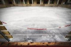 Parc fermé de patinage de glace photo stock