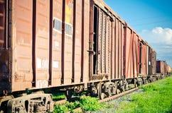 Parc ferroviaire russe Image libre de droits