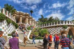 Parc GÃ ¼ ell, Barcelona Hiszpania Fotografia Royalty Free