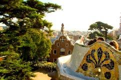 Parc GÃ ¼ ell, Barcelona obraz royalty free