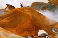 Parc géothermique de Hveradalir, Kerlingarfjoll, Islande photographie stock