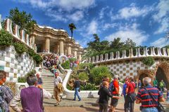 Parc Güell, Barcelona Spain Royalty Free Stock Photography