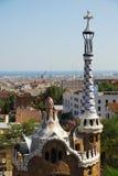 PARC GUEL à Barcelone Photo stock