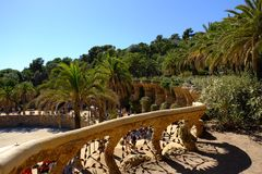 Parc guel, royalty free stock images