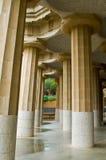 parc guell колонок стоковая фотография