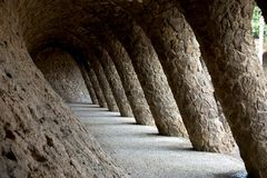 Parc Guell 07, Barcelona, Spanien Lizenzfreies Stockbild