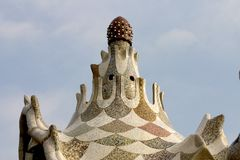 Parc Guell 12, Barcelona, Spain Stock Photos