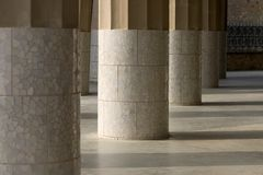 Parc Guell 14, Barcelona, Spain. Columns in Parc Guell, Barcelona, Spain stock image