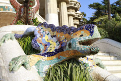 Parc Guell. Mosaic lizard at Parc Guell in Barcelona, Spain Royalty Free Stock Photo