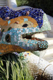 Parc Guell. Mosaic lizard at Parc Guell in Barcelona, Spain royalty free stock photos