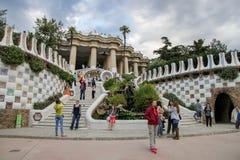 Parc Guell Antoni Gaudi, Barcelona Obraz Stock