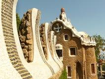 Parc guell Ausgangshaus Barcelona Spanien Lizenzfreies Stockbild