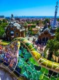 Parc Guell, Barcelona Royaltyfri Foto