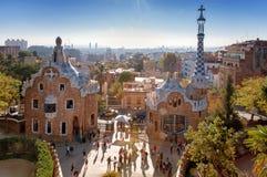 Parc Guell, Barcelona Stock Afbeeldingen