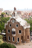 Parc Guell and Barcelona Aerial View Royalty Free Stock Image