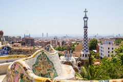 Parc Guell Barcelona. Parc Guell designed by Antoni Gaudi Barcelona, Spain Royalty Free Stock Photo