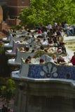 Parc Guell Barcelona España Foto de archivo