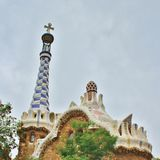 Parc Guell, Barcelona. Parc Güell is a park in Barcelona. It was designed and constructed by Antoni Gaudí together with his assistant Josep Maria Jujol in royalty free stock photo