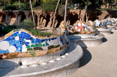 Parc Guell, Barcelona Stock Photos