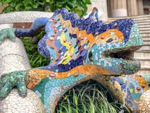 Parc Guell in Barcelona, Spain.  Royalty Free Stock Photos