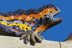 Parc Guell - Barcelona - Spain. The famous Guadi lizard at Parc Guell in Barcelona in the Catalonia region of Spain Stock Image