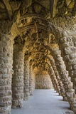 Parc Guell - Barcelona - Spain. A subterranean grotto in Gaudi's Parc Guell in Barcelona in the Catalonia region of Spain. The park covers 20 hectares (50 acres Stock Photo