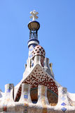 Parc Guell,  Barcelona, Spain. View of chimney in Parc Guell,  Barcelona, Spain Royalty Free Stock Photos