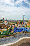 Parc Guell, Barcelona, Spain by Antoni Gaudi Stock Photography