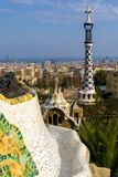 Parc Guell in Barcelona (Spain). Parc Guell is a famous park by the excellent architect Antoni Gaud Stock Photography