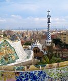Parc Guell, Barcelona, Spain. Parc Guell in Barcelona Spain on sunny day Stock Image