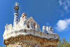 Parc Guell, Barcelona, Spanien Royaltyfria Bilder