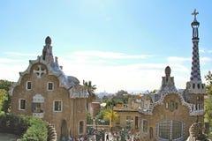 Parc Guell, Barcelona, Spanien Arkivfoton