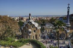 Parc Guell, Barcelona Spanien Royaltyfria Bilder