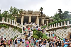 Parc Guell, Barcelone photo stock