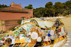 Parc Guell à Barcelone, Espagne. Image stock